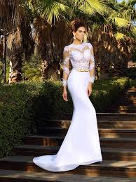 wedding dresses in sheath column scoop applique sleeves court satin