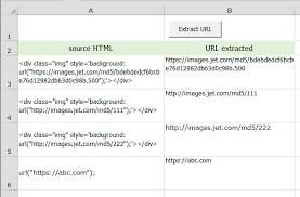 div background url image url extraction using excel vba