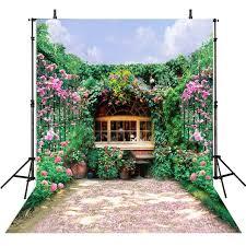 wedding backdrop garden aliexpress buy flowers photography backdrops garden backdrop