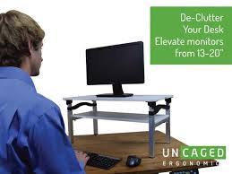 Monitor Stands For Desks Lift Tall Adjustable Height Computer Monitor Stand For Sitting