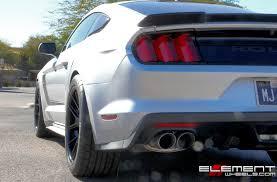 Black Roush Mustang 20 Inch Staggered Ferrada Fr2 Matte Black On 2015 Ford Roush