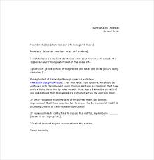 noise complaint letter template u2013 8 free word pdf documents