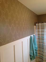 cutting edge stencils diy board and batten u003d fabulous bathroom