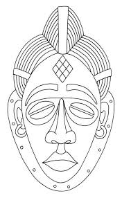 african mask drawings free clip art designed