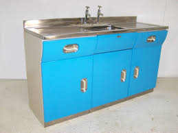 Metal Kitchen Sink Cabinet Unit Vintage Retro Metal Kitchen Sink Unit Cabinet