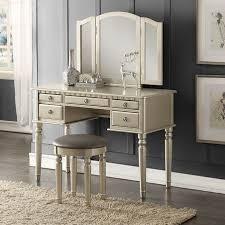 bathroom vanity table with lighted mirror makeup vanity set