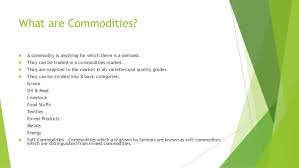 commodities research bureau introductory presentation on commodity trading