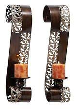 Wall Mounted Candle Sconce Bronze Candle Wall Sconce Ebay