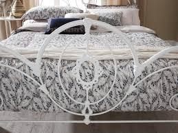 White Metal Kingsize Bed Frame Serene Harriet 5ft King Size White Metal Bed Frame By Serene