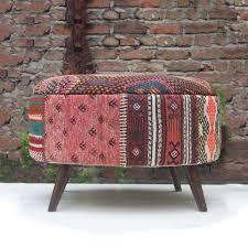 kilim patchwork ottoman kilim ottoman stool orange kilim rug