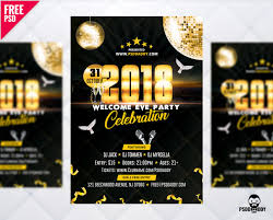 download new year 2018 party flyer free psd psddaddy com