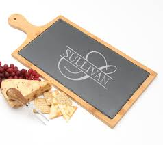 personalized cheese boards cheese board slate and bamboo 19 x 9 design 25