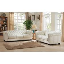 White Leather Chesterfield Sofa Nashville White Leather Chesterfield Sofa And Loveseat Set Free