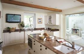 vintage country kitchen with traditional painted old country