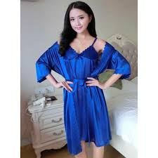Baju Tidur kimono baju tidur wanita polos satin elevenia