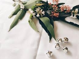 australian christmas floral table arrangement eucalyptus leaves