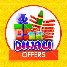 firecrackers for sale diwali offers background with colorful firecrackers and gifts