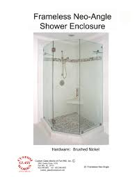 Custom Line Shower Doors by Custom Glass Works Of Fort Mill Sc Serving North And South Carolina