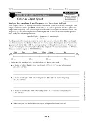 light waves worksheet free worksheets library download and print