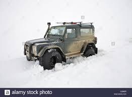 land rover defender 90 interior land rover defender 90 iceland interior highlands winter stock