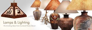 Sunland Home Decor Lamps And Lighting In Rustic Southwest Lodge Styles