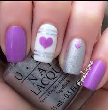purple heart nail design glamorous purple nail designs i heart my