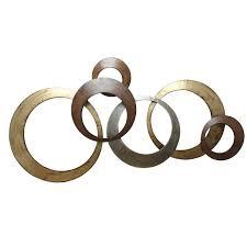 amazon com stratton home decor spc 999 interlocking circles metal