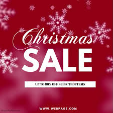 christmas sale christmas sale instagram post template postermywall
