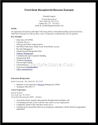 resume exle for receptionist resume for hotel front desk grocery manager resume excel how