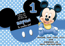 Baby Boy First Birthday Invitation Cards Disney Birthday Invitations U2013 Gangcraft Net