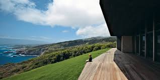 clifftop house with angled roof in maui dwell