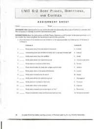 Planes And Anatomical Directions Worksheet Answers Unit 6 2 Planes Directions And Cavities 6th 8th Grade