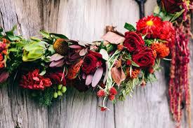 red flower wedding garland image 375790 polka dot bride