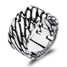 buy metal rings images Fashion jewelry big rings stainless steel wide rings punk black jpg