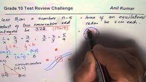 grade 10 test review challenge questions youtube