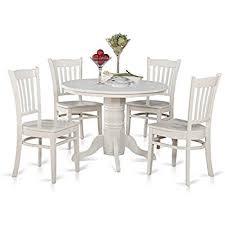 amazon com east west furniture shgr5 whi w 5 piece kitchen table