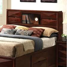 storage headboards full queen size bed with bookcase headboard