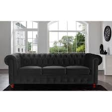 Classic Tufted Sofa Furniture Classic Black Tufted Sofa With Red Legs For Living Room
