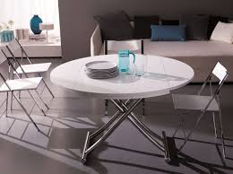 adjustable height round coffee table