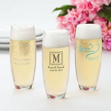 stemless champagne flutes wedding favors personalized champagne glass favors