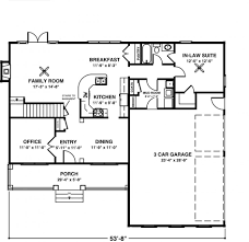 traditional house plans one story apartments house plans with mother in law wing awesome house