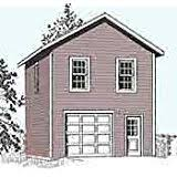 2 Story Garage Plans With Apartments Garage Plans Craftsman Style One Car Two Story Garage With