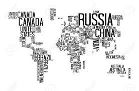 world map with countries name world map with countries name text or typography royalty free