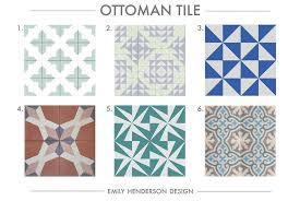 Ottoman Tiles Cement Tile Roundup Ottoman Tile Patterned Tiles Emily Henderson