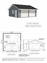 24 x 24 garage plans reverse gable two car garage plan 576 4a 24 x 24 by behm design