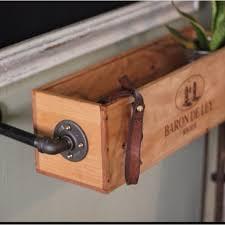 Window Sill Herb Garden Designs Hanging Wine Box Re Used As A Window Sill Herb Garden