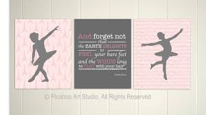 Ballerina Nursery Decor Baby Nursery Pink Grey Nursery Decor Ballerina