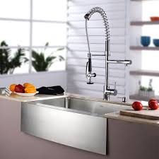 Modern Faucet Kitchen by Sinks Great Design White Kitchen Cabinet And Apron Front Sink