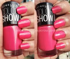 sorelle grapevinemaybelline color show nail polish hooked on pink