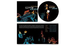 layout cd booklet jazz music event cd booklet template design
